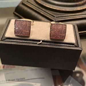 Paisley pink cufflinks